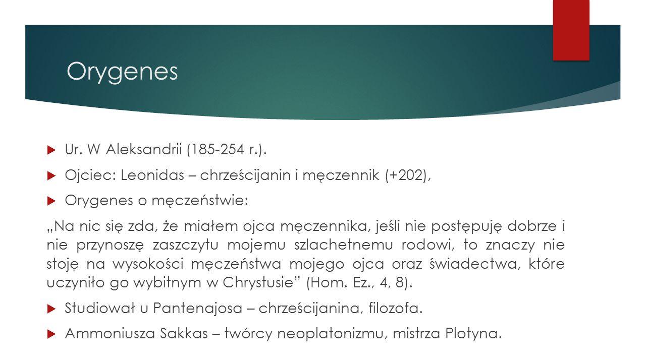 Orygenes  Ur.W Aleksandrii (185-254 r.).