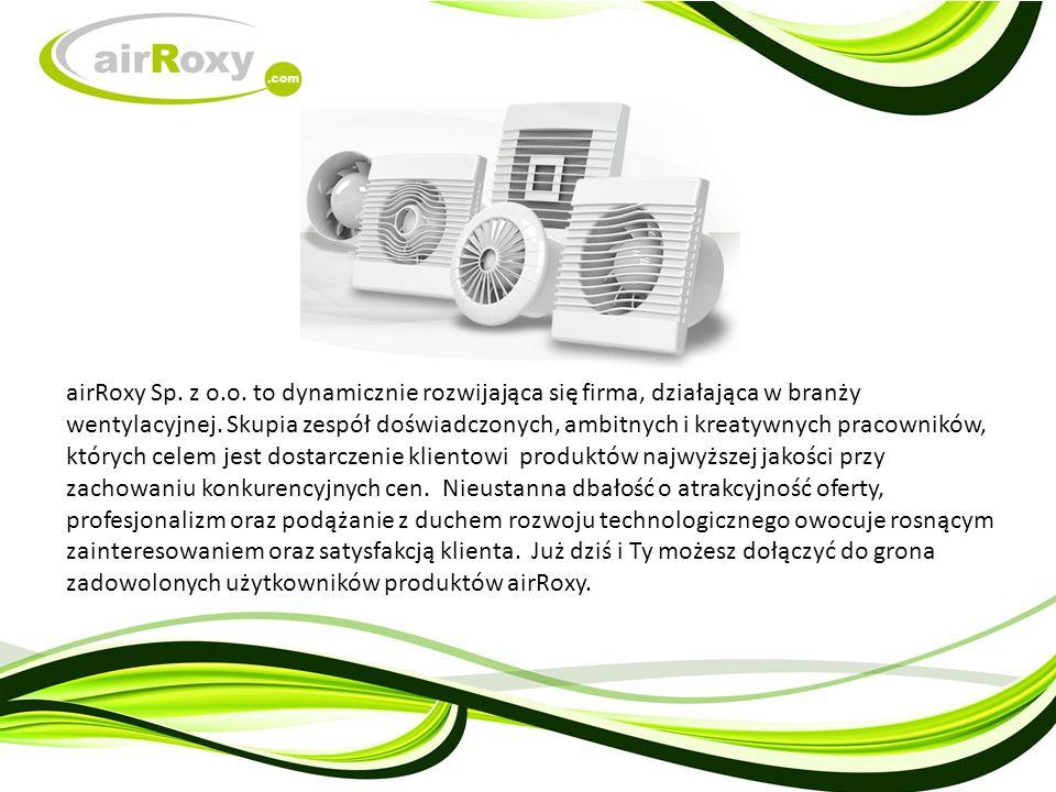 airRoxy Sp. z o.o. to dynamicznie rozwijająca się firma, działająca w branży wentylacyjnej.