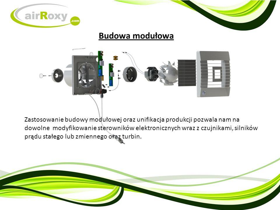Zastosowanie budowy modułowej oraz unifikacja produkcji pozwala nam na dowolne modyfikowanie sterowników elektronicznych wraz z czujnikami, silników prądu stałego lub zmiennego oraz turbin.