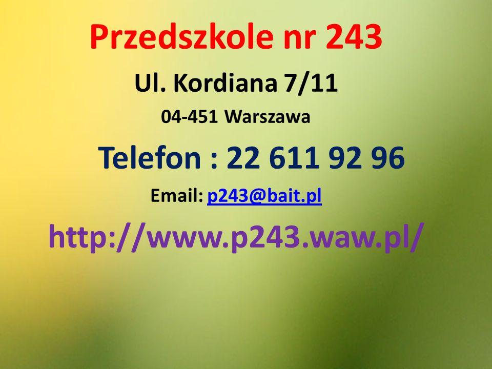 Przedszkole nr 243 Ul.