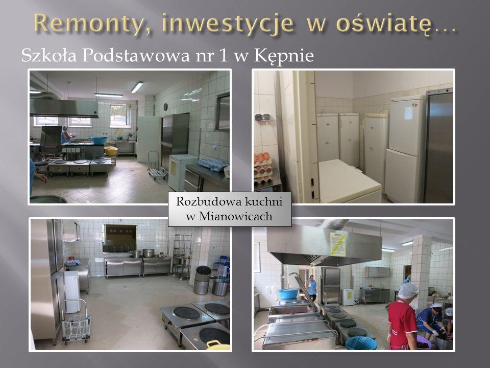 Szkoła Podstawowa nr 1 w Kępnie Rozbudowa kuchni w Mianowicach