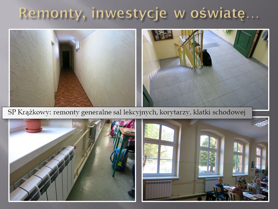 SP Krążkowy: remonty generalne sal lekcyjnych, korytarzy, klatki schodowej