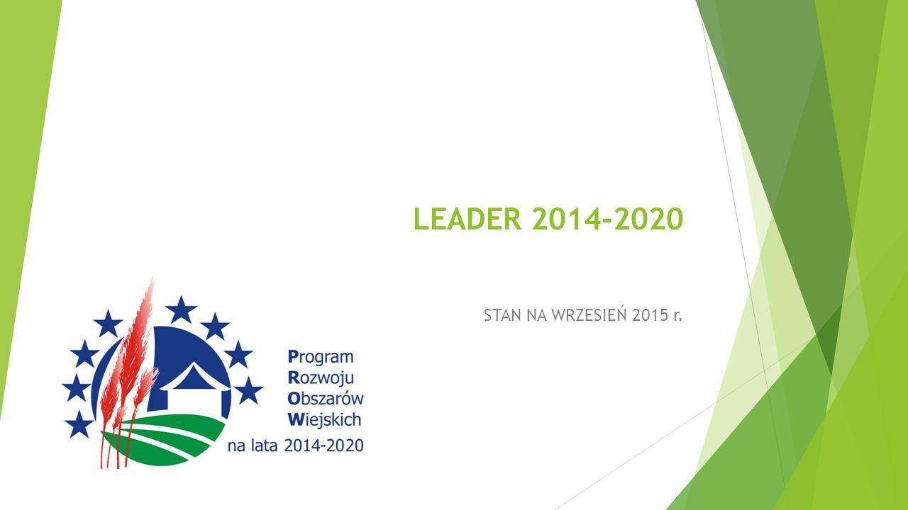 LEADER 2014-2020 STAN NA WRZESIEŃ 2015 r.