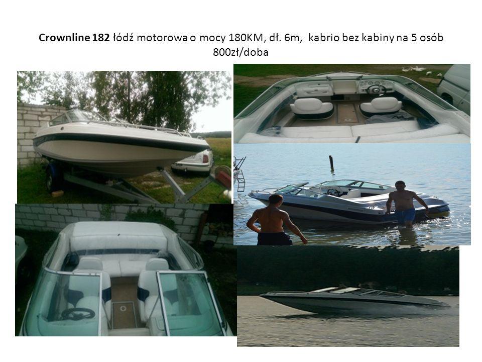 Crownline 182 łódź motorowa o mocy 180KM, dł. 6m, kabrio bez kabiny na 5 osób 800zł/doba