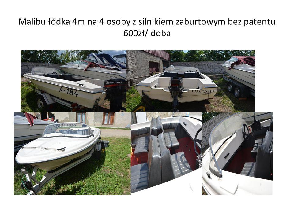 Malibu łódka 4m na 4 osoby z silnikiem zaburtowym bez patentu 600zł/ doba