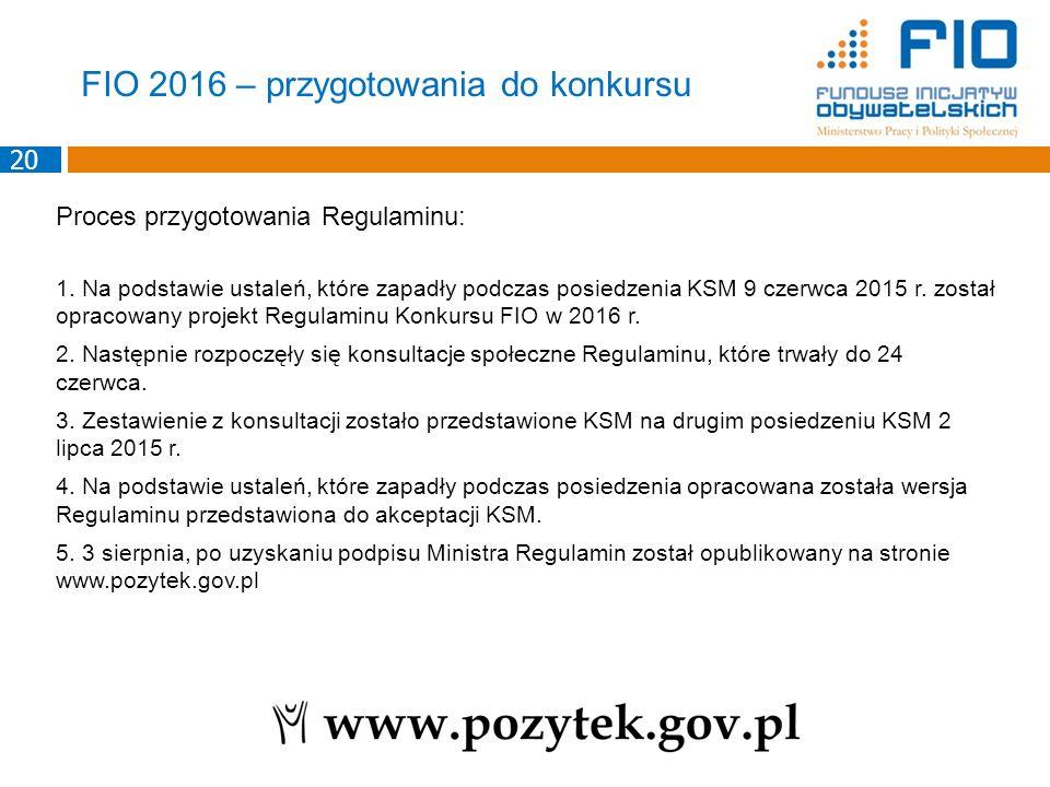 Proces przygotowania Regulaminu: 1. Na podstawie ustaleń, które zapadły podczas posiedzenia KSM 9 czerwca 2015 r. został opracowany projekt Regulaminu