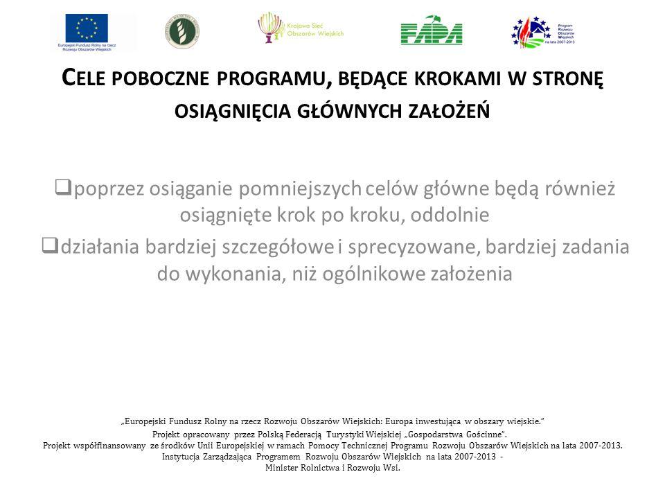"""""""Europejski Fundusz Rolny na rzecz Rozwoju Obszarów Wiejskich: Europa inwestująca w obszary wiejskie."""" Projekt opracowany przez Polską Federacją Turys"""