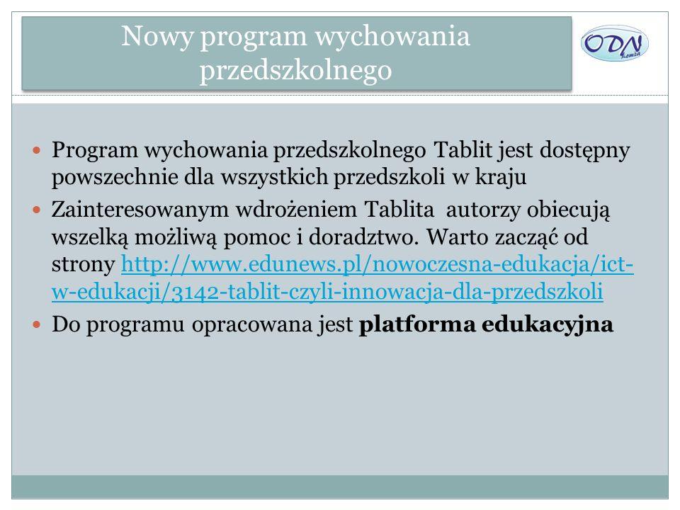 Nowy program wychowania przedszkolnego Program wychowania przedszkolnego Tablit jest dostępny powszechnie dla wszystkich przedszkoli w kraju Zainteres