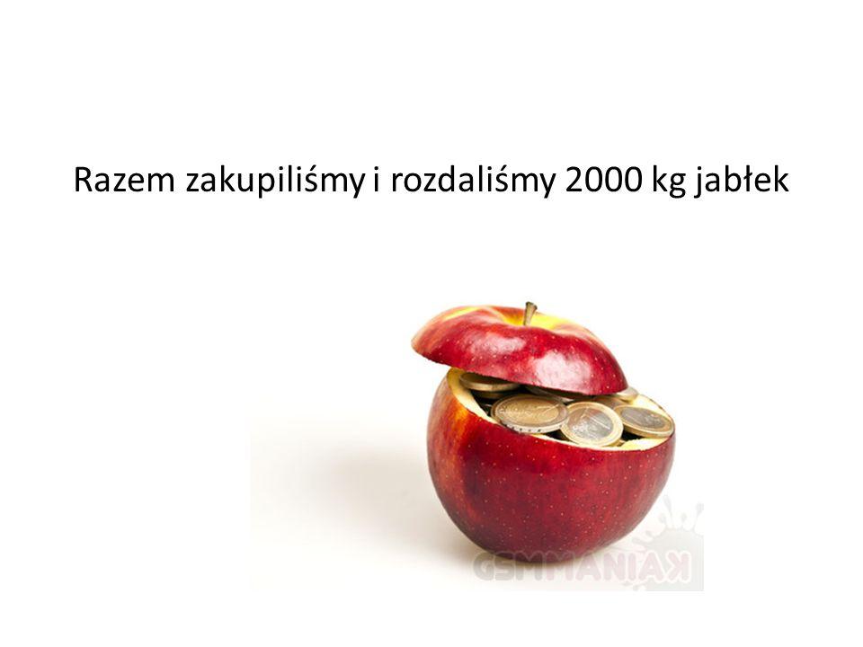 Razem zakupiliśmy i rozdaliśmy 2000 kg jabłek