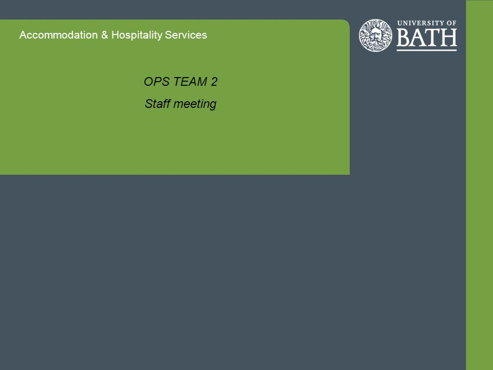 Accommodation & Hospitality Services Question 8 What would you need to be outstanding in your role.