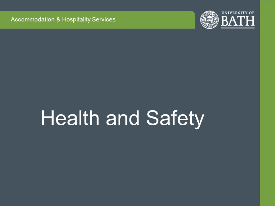 Accommodation & Hospitality Services Health and Safety