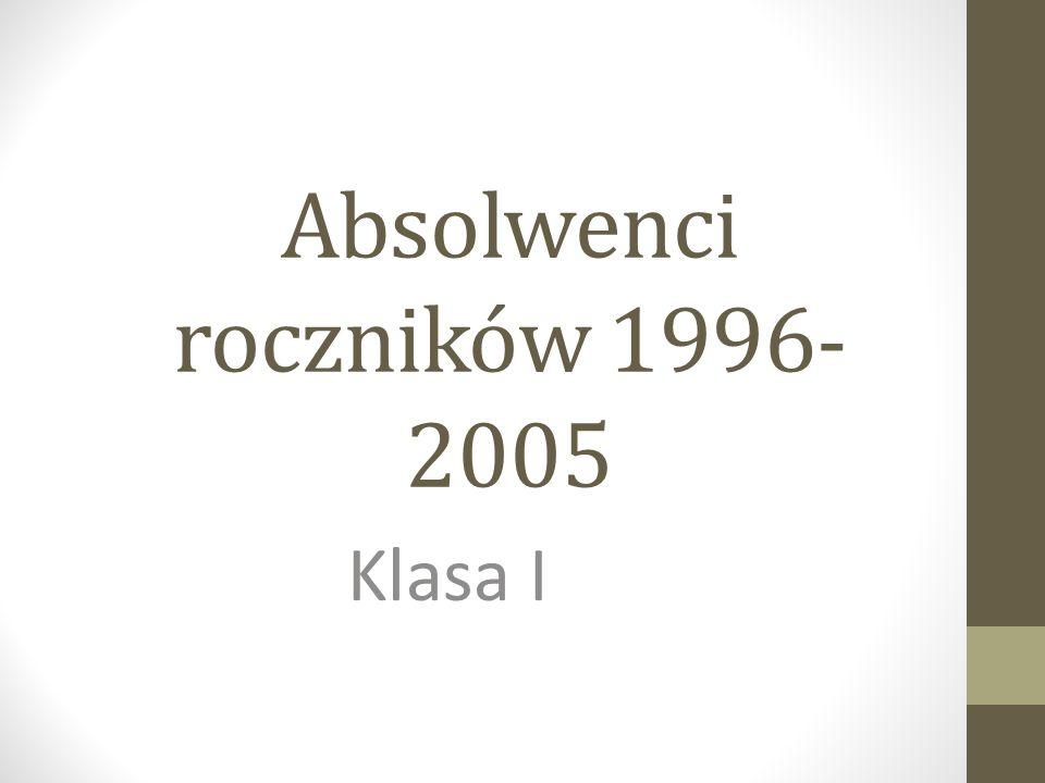 Absolwenci roczników 1996- 2005 Klasa I