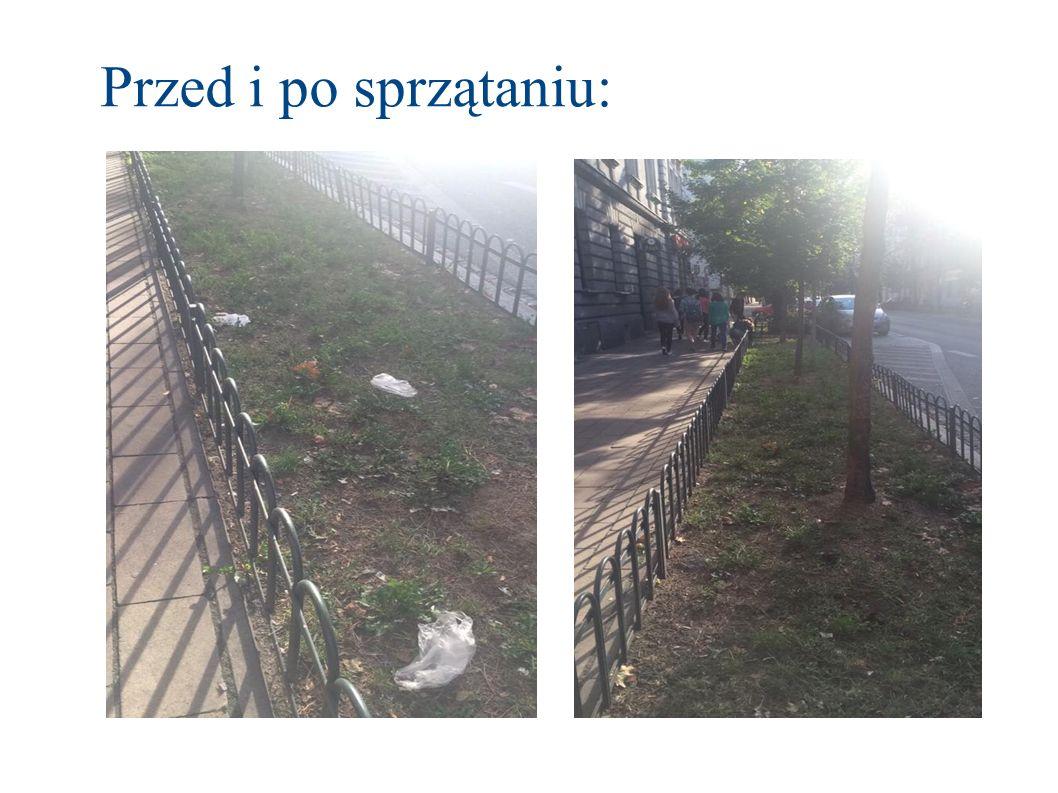 Przed i po sprzątaniu: