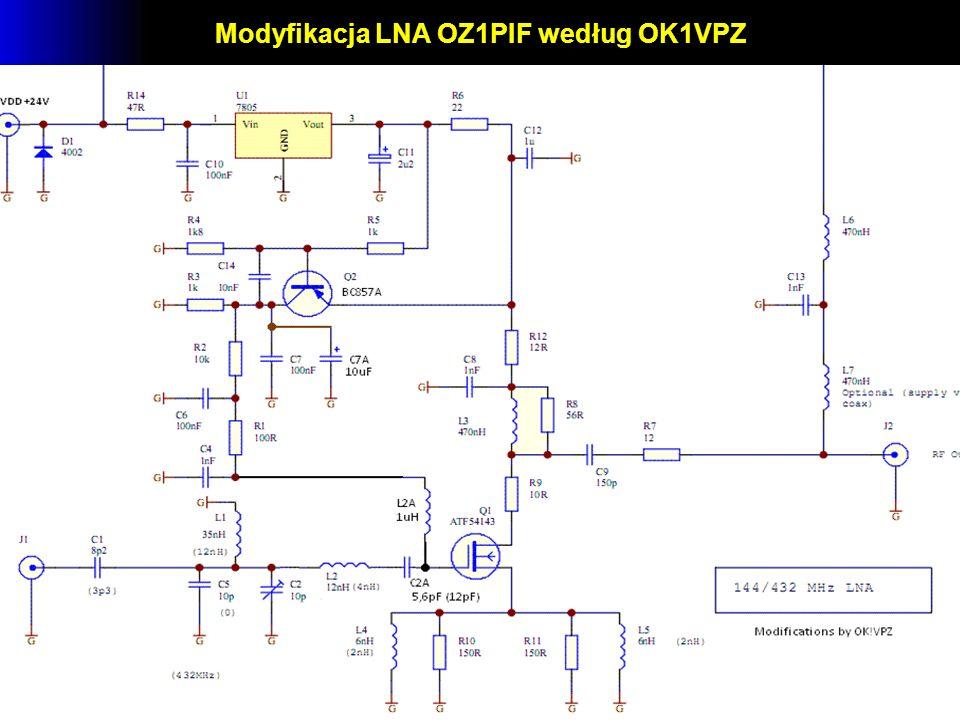 Modyfikacja LNA OZ1PIF według OK1VPZ
