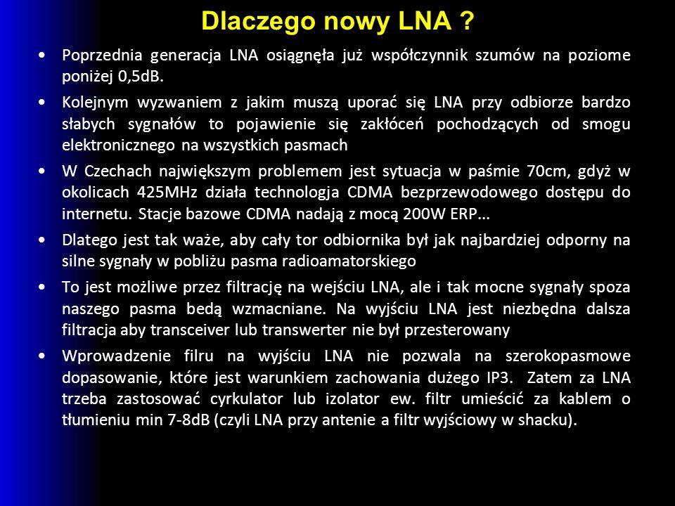 Dlaczego nowy LNA .
