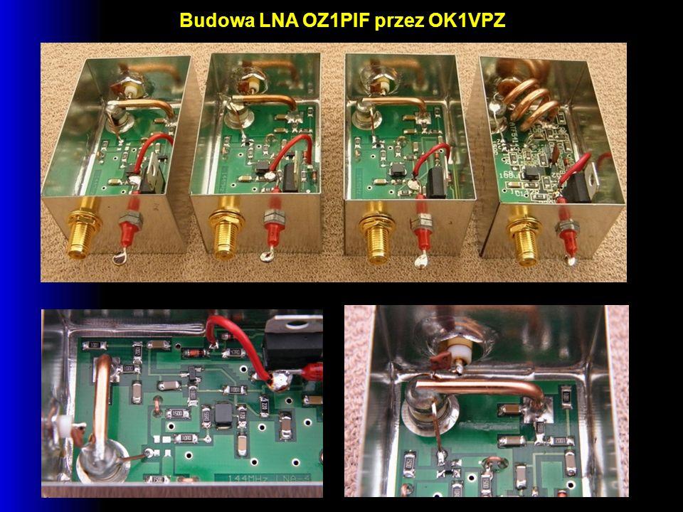 Budowa LNA OZ1PIF przez OK1VPZ