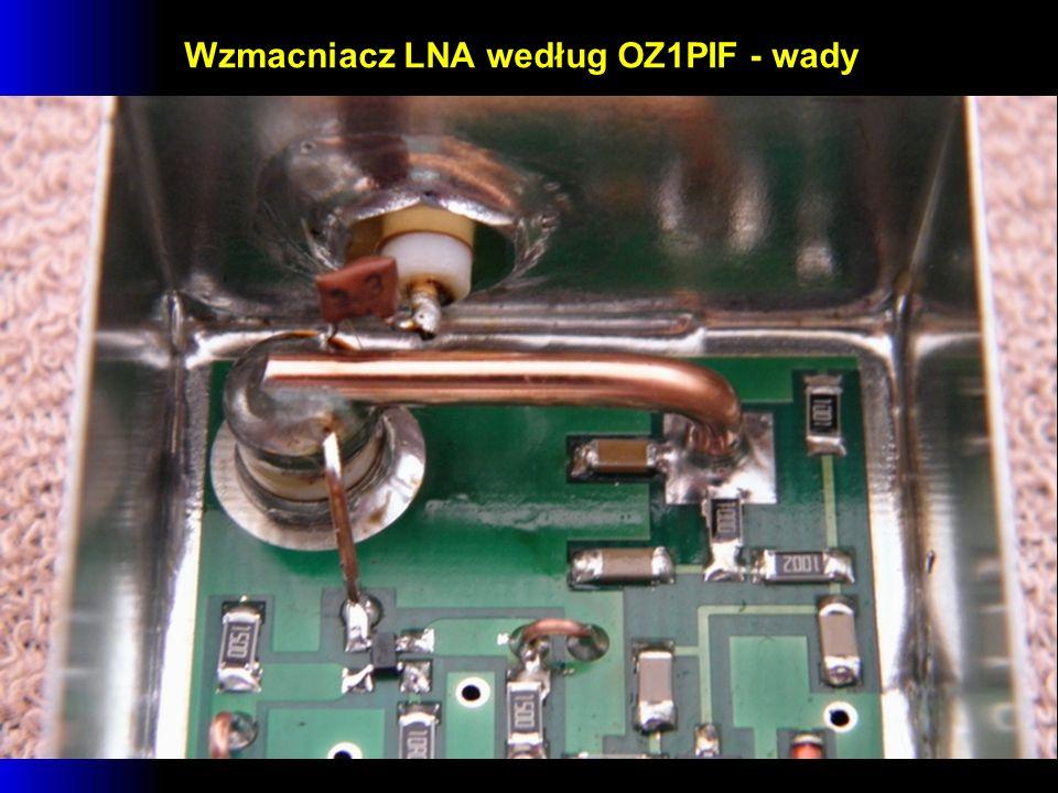 Wzmacniacz LNA według OZ1PIF - wady