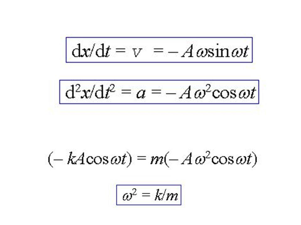 x = Acos  t jest rozwiązaniem, gdy funkcja x = Asin  t może być również rozwiązaniem równania, ale nie spełnia warunku początkowego, bo gdy t = 0 to x = 0 (zamiast x = A).