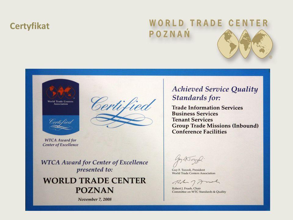  Kompleksowa organizacja i obsługa misji handlowych  Matchmaking – wyszukiwanie i kojarzenie partnerów do współpracy gospodarczej  Business Mixer - branżowe spotkania z przedsiębiorcami polskimi i zagranicznymi podczas targów Podstawowa działalność statutowa  Klub WTC 'promocja polskiej gospodarki za granicą, wspieranie międzynarodowego handlu oraz ułatwianie kontaktów biznesowych'  Proeksportowe spotkania informacyjne, fora gospodarcze, seminaria
