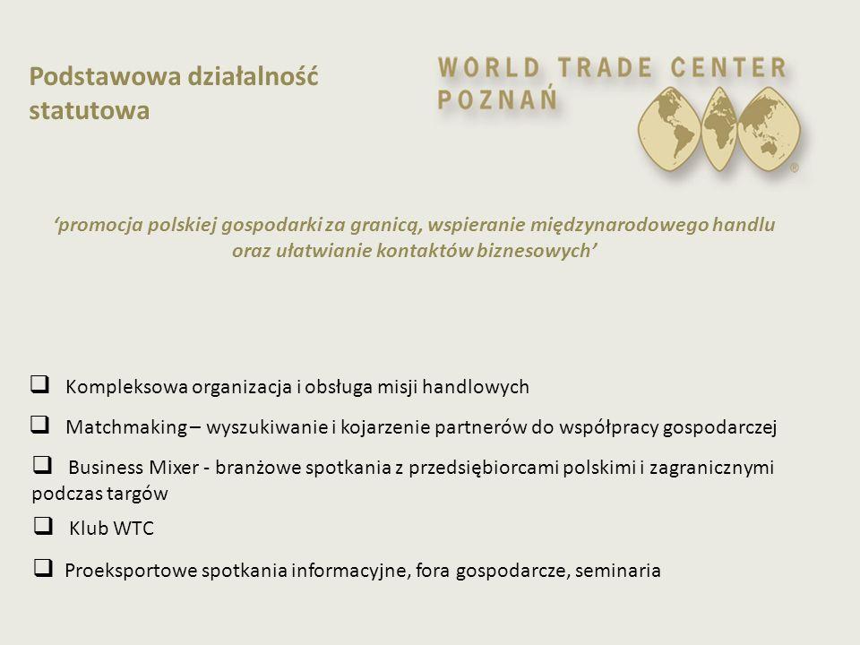  Kompleksowa organizacja i obsługa misji handlowych  Matchmaking – wyszukiwanie i kojarzenie partnerów do współpracy gospodarczej  Business Mixer -
