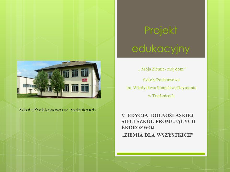 Cele projektu:  budowanie postawy szacunku dla przyrody;  podejmowanie różnych działań na rzecz ochrony środowiska we własnym otoczeniu;  zdobycie i poszerzenie wiedzy przez uczniów z zakresu edukacji ekologicznej;  propagowanie na stronie internetowej szkoły różnych działań ekologicznych podejmowanych przez uczniów;  włączenie szkoły w powszechną edukację dotyczącą zasad i korzyści wynikających z segregacji odpadów i ich przetwarzania oraz rozpowszechniania proekologicznych nawyków i zachowań;  nauka ekologicznego życia w szkole, we własnym domu, w środowisku;  poszerzenie świadomości ekologicznej społeczności lokalnej, a szczególnie dotyczącej segregacji odpadów komunalnych i ich recyklingu;  zapoznanie ze skutkami niewłaściwego gospodarowania człowieka na Ziemi;  przygotowanie uczniów do konkursów przyrodniczych.
