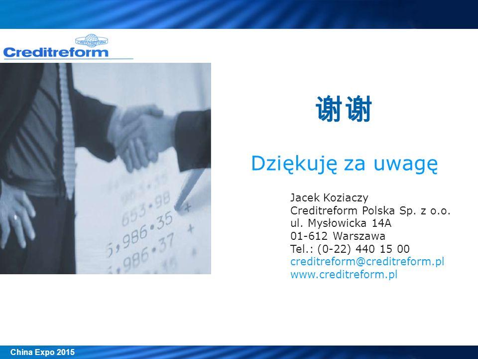 Jacek Koziaczy Creditreform Polska Sp. z o.o. ul. Mysłowicka 14A 01-612 Warszawa Tel.: (0-22) 440 15 00 creditreform@creditreform.pl www.creditreform.