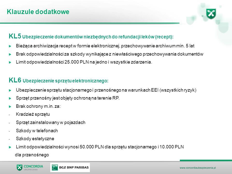 KL5 Ubezpieczenie dokumentów niezbędnych do refundacji leków (recept): Bieżąca archiwizacja recept w formie elektronicznej, przechowywanie archiwum min.