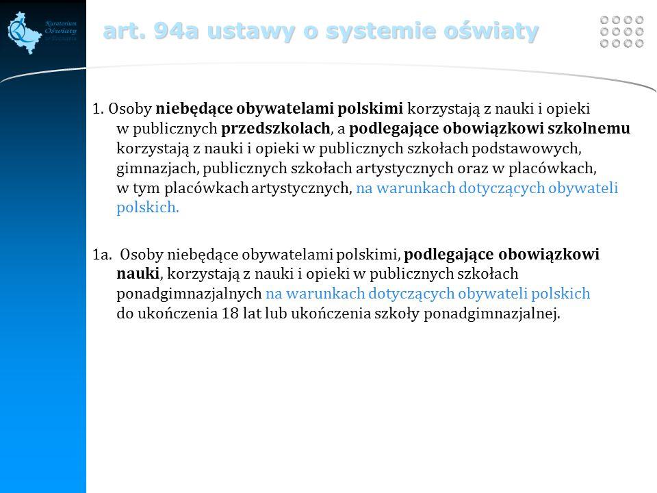 Your site here LOGO art. 94a ustawy o systemie oświaty 1.