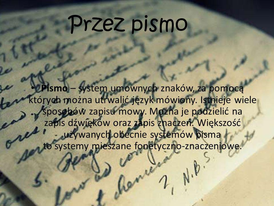 List – gatunek literatury stosowanej, pisemna wiadomość wysyłana przez jedną osobę (nadawcę) do drugiej (adresata).