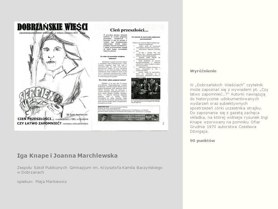 """Wyróżnienie W """"Dobrzańskich Wieściach"""" czytelnik może zapoznać się z wywiadem pt. """"Czy łatwo zapomnieć…?"""" Autorki nawiązują do historycznie udokumento"""