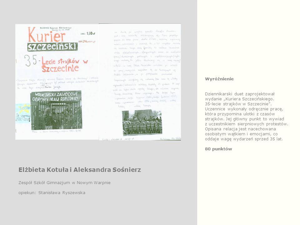 """Wyróżnienie Dziennikarski duet zaprojektował wydanie """"Kuriera Szczecińskiego."""