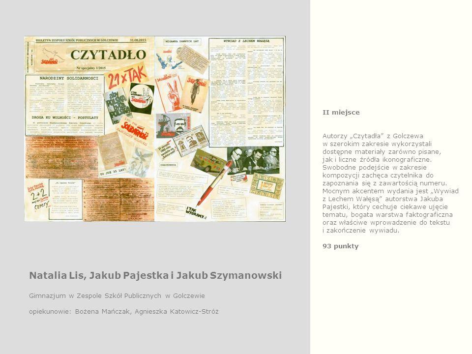 """II miejsce Autorzy """"Czytadła z Golczewa w szerokim zakresie wykorzystali dostępne materiały zarówno pisane, jak i liczne źródła ikonograficzne."""