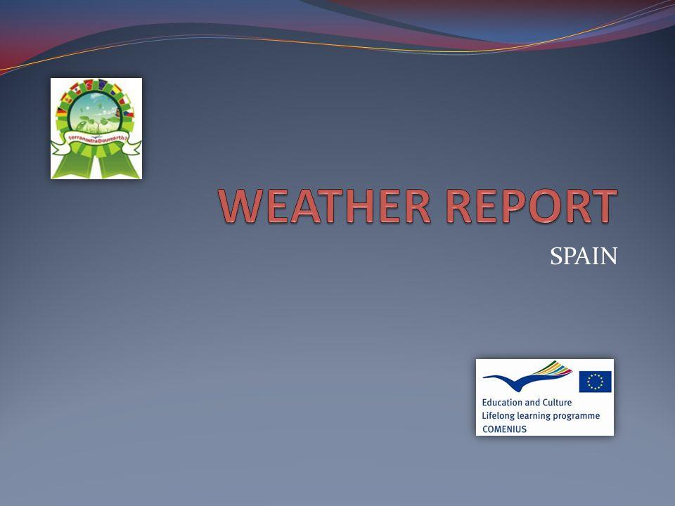 Spanish weather report