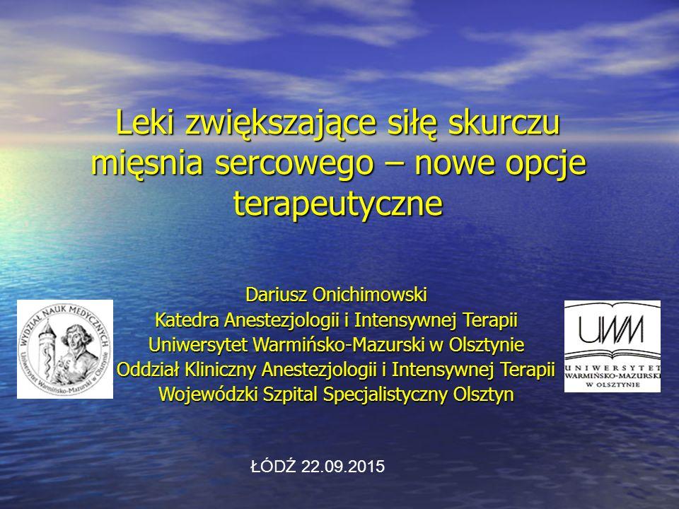 Konflikt interesów Wykłady dla : Wykłady dla : - Fresenius Medical Care - Edwards Life Sciences - MSD - Pfizer - Glaxo - Orion Pharma 2