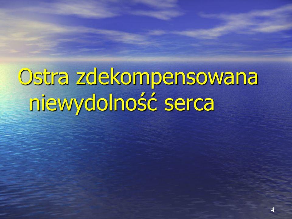 Zalecane stosowanie lewosimendanu w kardiochirurgii Profil pacjenta  Niska przedoperacyjna LVEF (np.