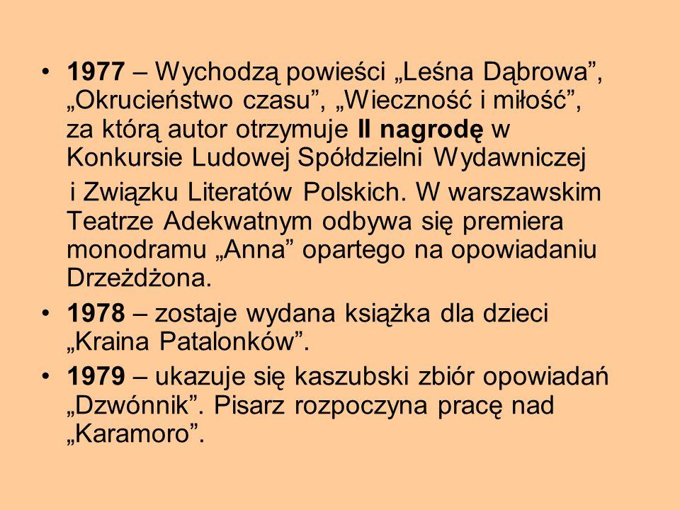 """1975 – zostają wydane """"Upiory"""". Pisarz otrzymuje nagrodę im. Wilhelma Macha za najlepszy debiut prozatorski roku. Otwiera przewód habilitacyjny na Uni"""