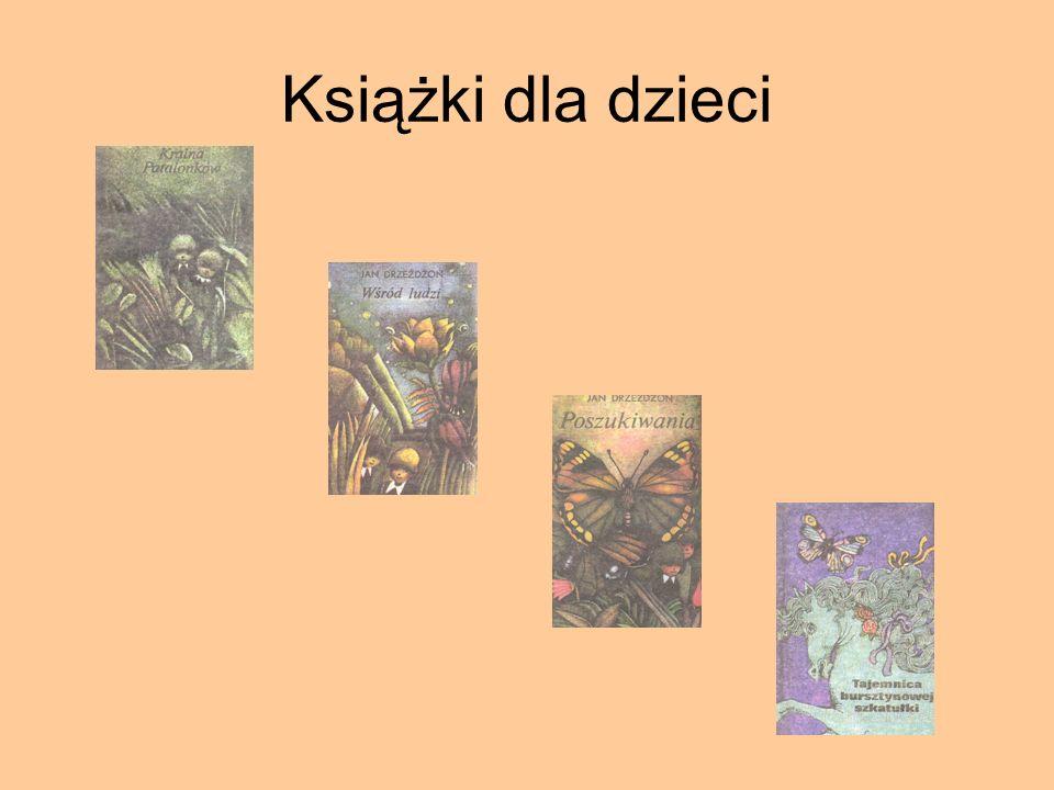 """Pośmiertne wydanie książek 1992 – """"Czerwony dwór"""". 1993 - """"Szary człowiek"""" i """"Twarz Smętka"""". 1997 - """"Kól Bielawe""""."""