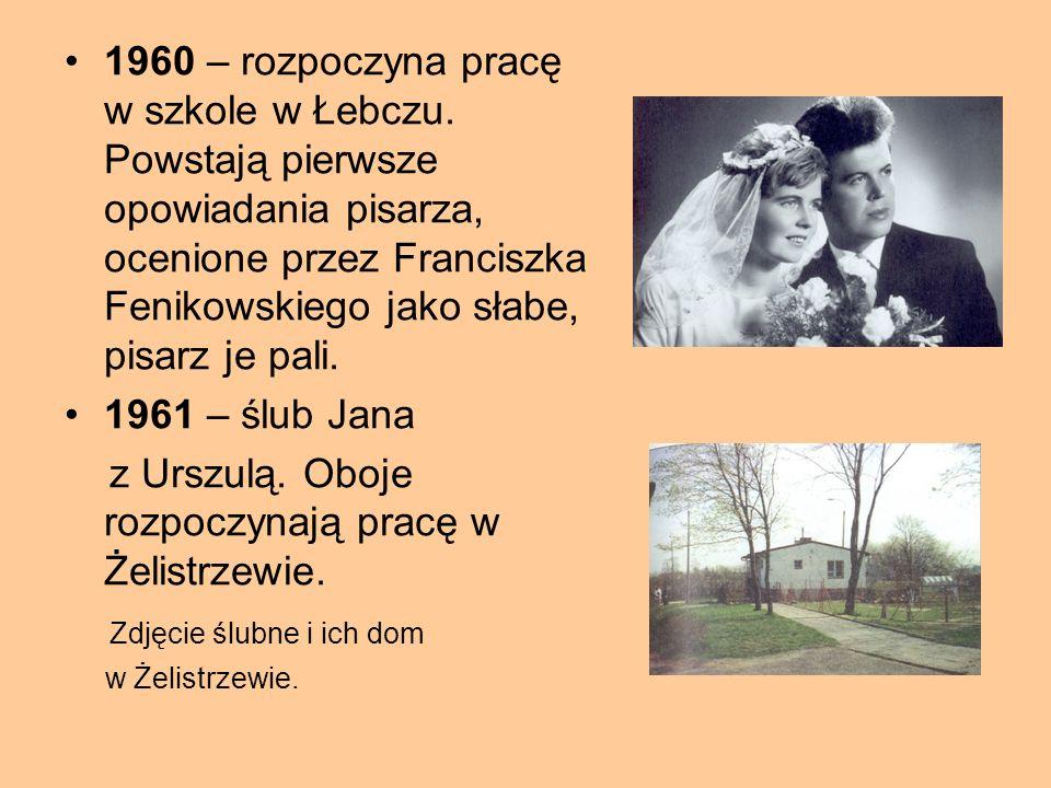 """1951- rozpoczyna naukę w Liceum Pedagogicznym w Wejherowie. Szkołę średnią Jan Drzeżdżon określa jako """"pospieszne przygotowanie do zawodu"""". 1955 –Jan"""