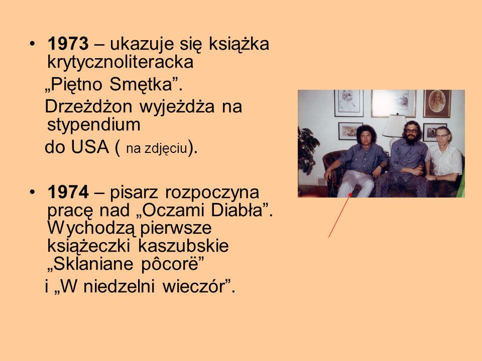 """1970 – Jan Drzeżdżon otrzymuje tytuł doktora nauk humanistycznych. Pisze """" Leśną Dąbrowę"""". 1971 – nagroda w konkursie Wielkopolskiego Towarzystwa Kult"""