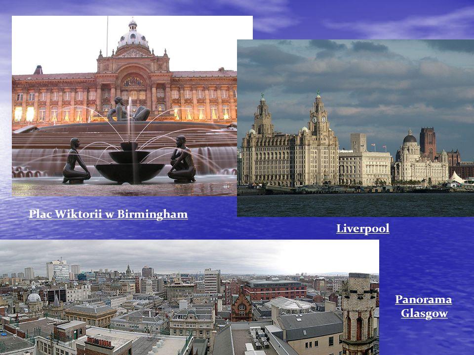 Plac Wiktorii w Birmingham Liverpool Panorama Glasgow