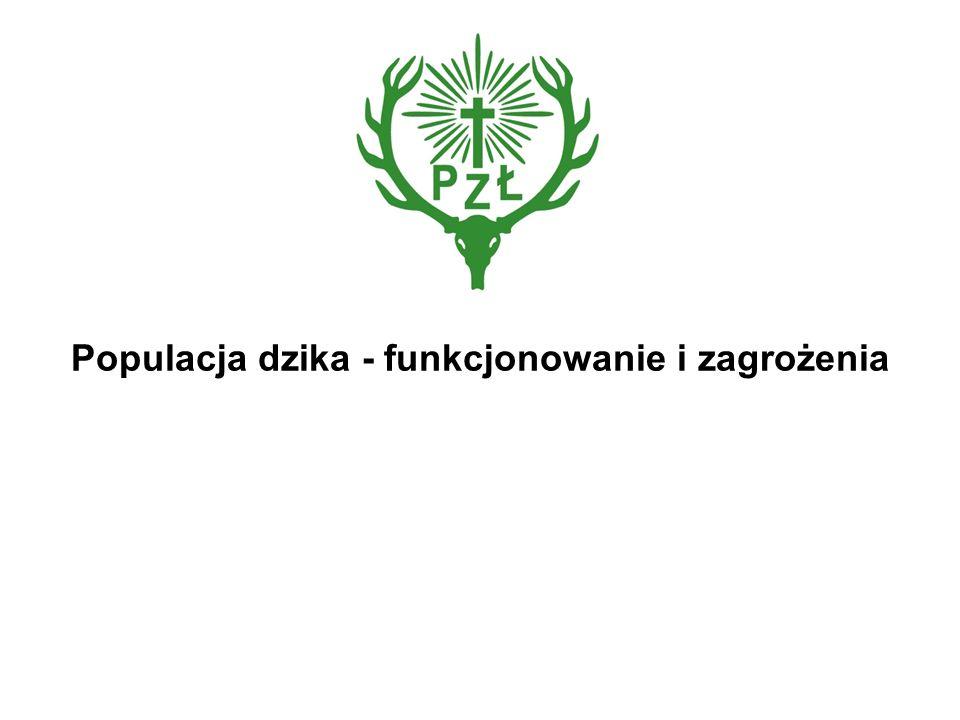 Wstęp Populacja dzika w Europie i Polsce od szeregu lat nieustannie wzrasta obecnie krajowa populacja dzika przekroczyła 282 tys.