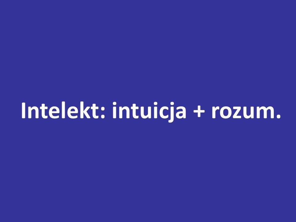 Intelekt: intuicja + rozum.