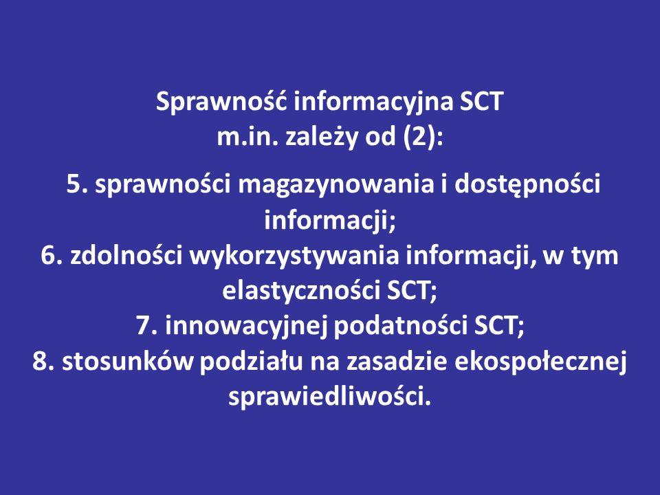 Sprawność informacyjna SCT m.in.zależy od (2): 5.
