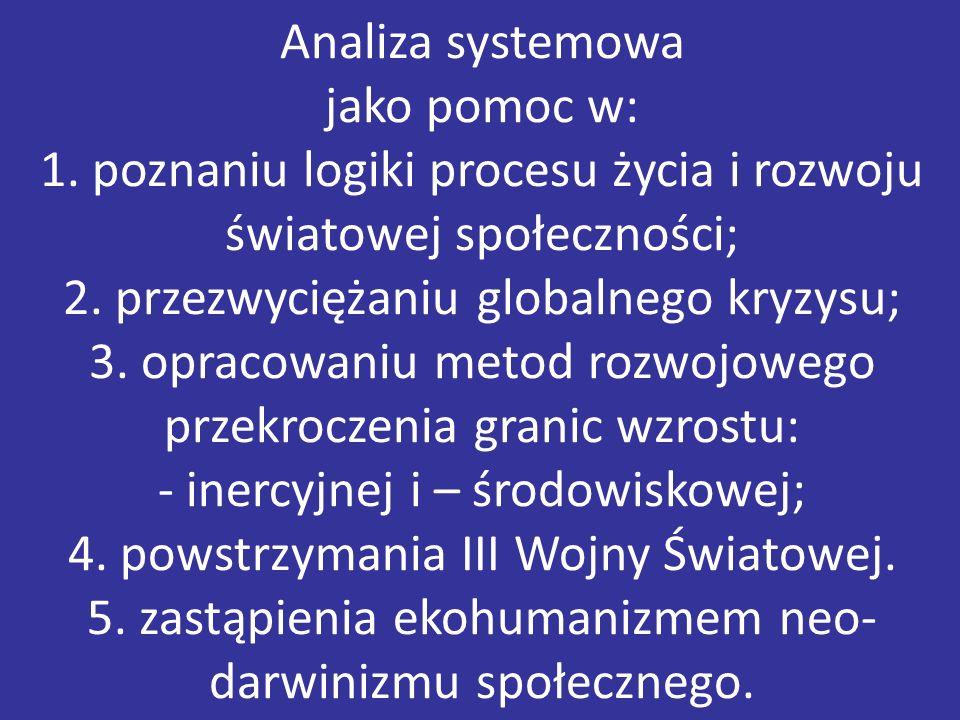 Analiza systemowa jako pomoc w: 1.