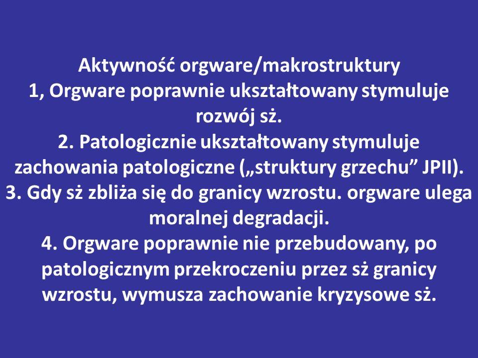 Aktywność orgware/makrostruktury 1, Orgware poprawnie ukształtowany stymuluje rozwój sż.
