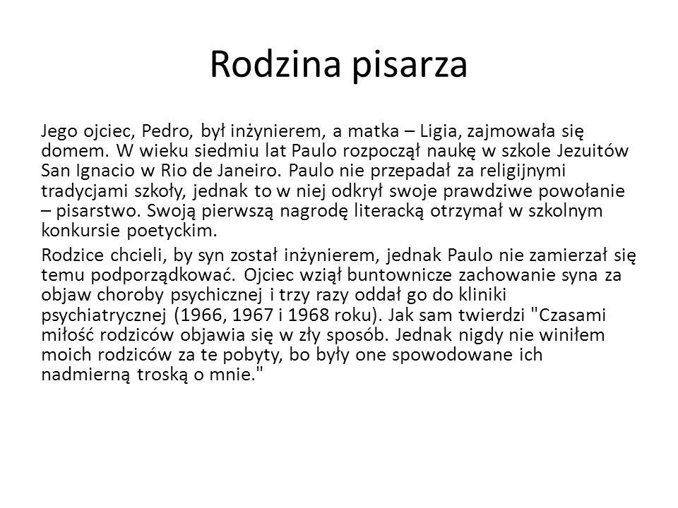 Pierwsze książki pisarza W 1987, w rok po zakończeniu pielgrzymki, Paulo napisał pierwszą książkę Pielgrzym (wyd.