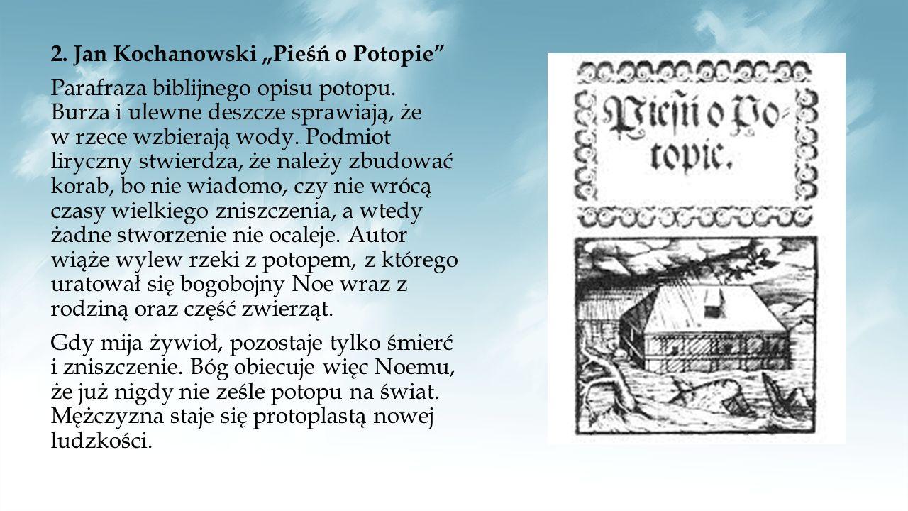 """3.Adam Mickiewicz """"Pan Tadeusz Autor porównuje karczmę w Soplicowie do biblijnej arki Noego."""