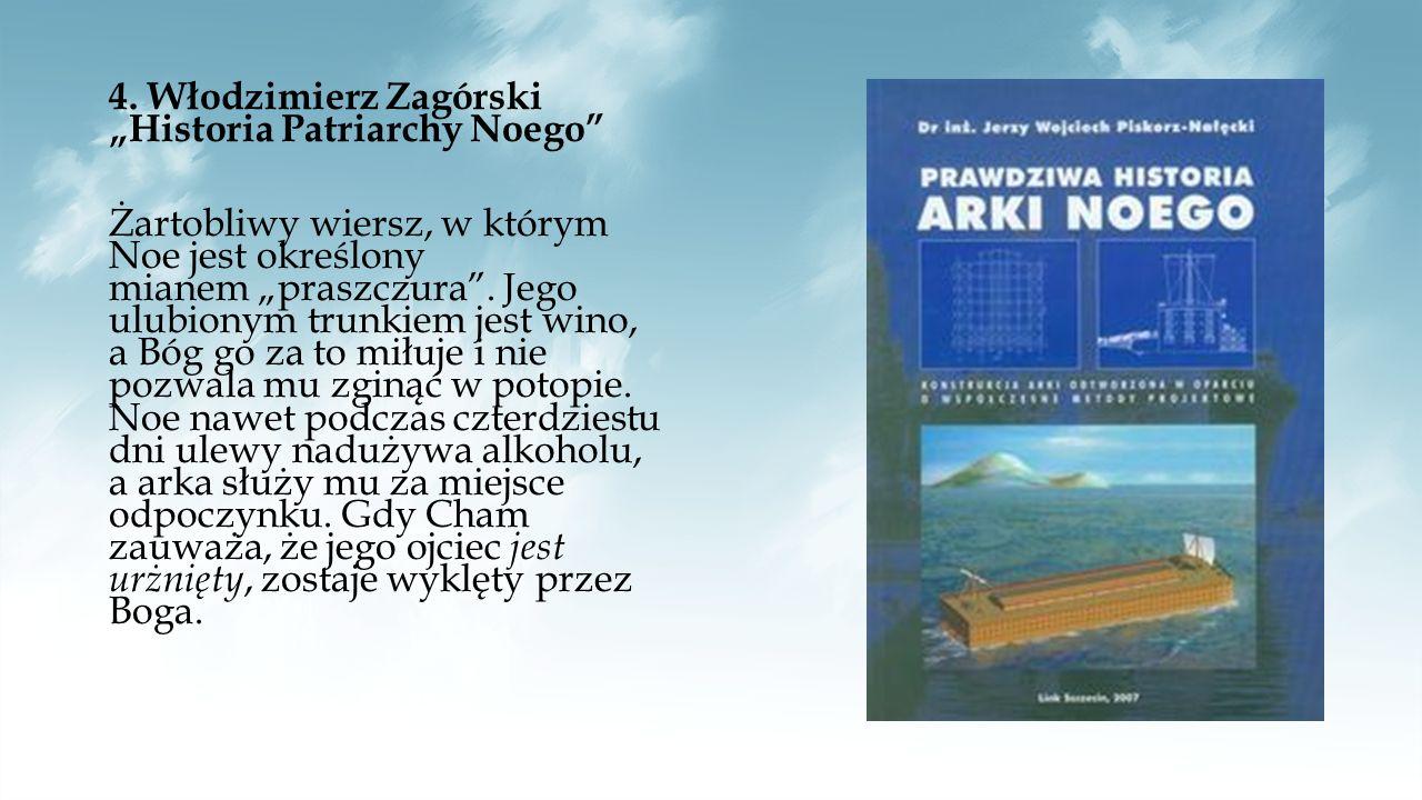 """5.Antoni Słonimski """"Potop Autor nawiązuje do biblijnego potopu bardzo osobiście."""