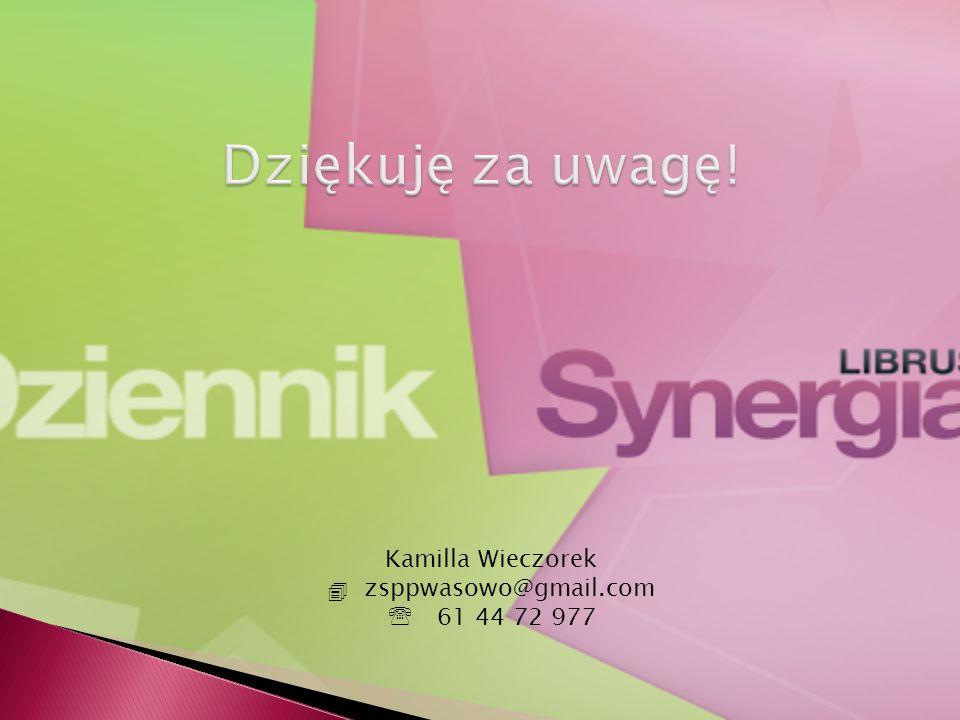 Kamilla Wieczorek  zsppwasowo@gmail.com  61 44 72 977