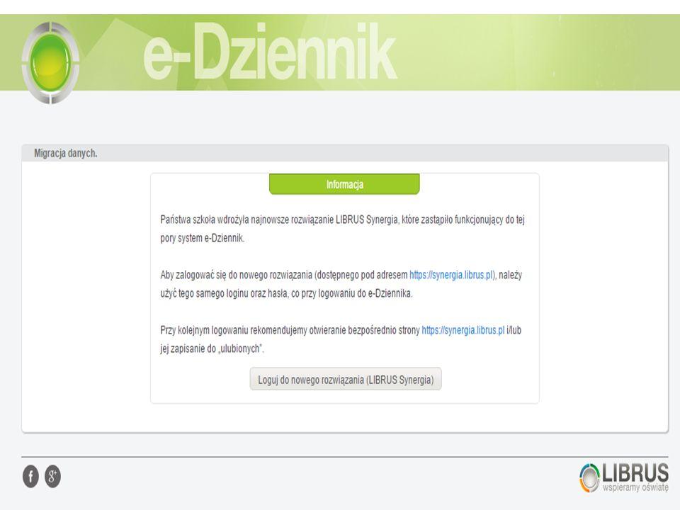 Dawny panel logowania www.dziennik.librus.pl Obecny panel logowania www.synergia.librus.pl  